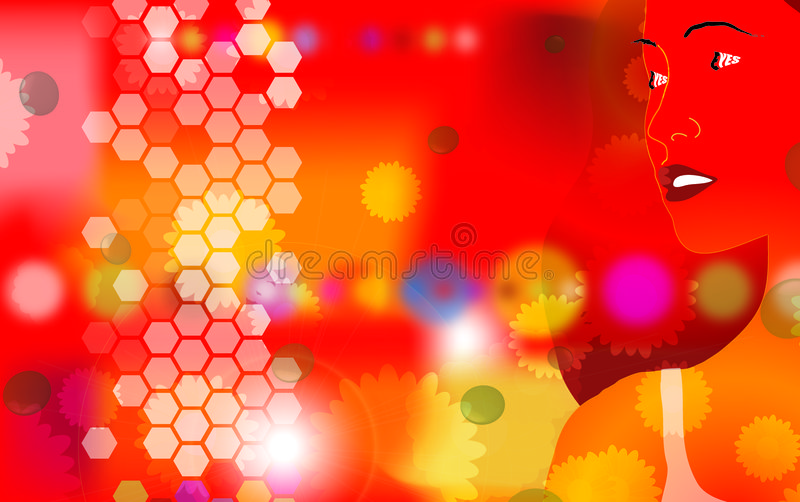 Induce red 2 stock illustration