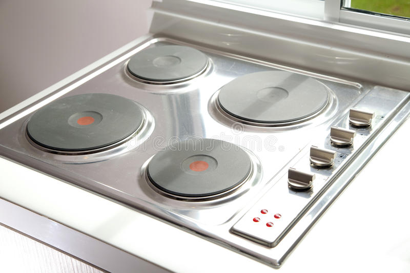 Induction cooktop stove. In modern pantry royalty free stock image