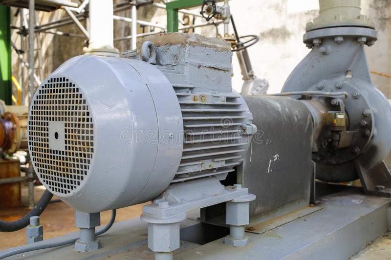 Induction motor with Centrifugal pumps. In chemical industrial plant royalty free stock photos