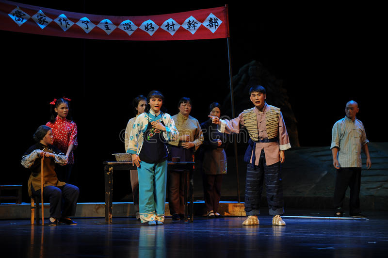 Induction speech- Jiangxi opera a steelyard. Jiangxi opera a steelyard is adapted from a true story: the last century fortys, the protagonists father runs an oil royalty free stock photo