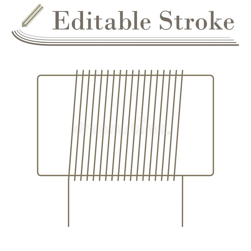 Inductor Coil Icon. Editable Stroke Simple Design. Vector Illustration stock illustration