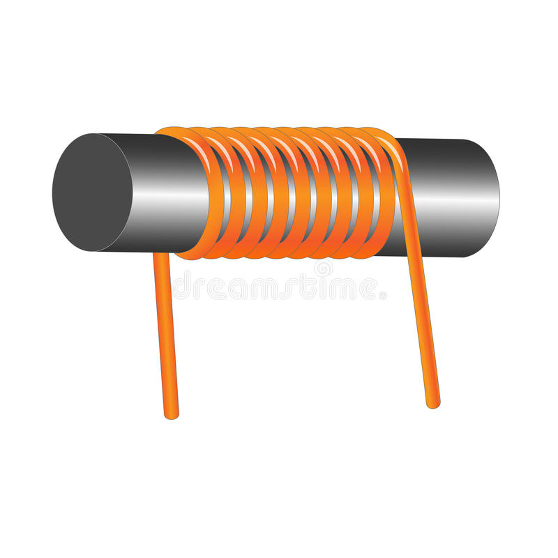 Download Inductor coil stock vector. Image of induction, copper - 83706255