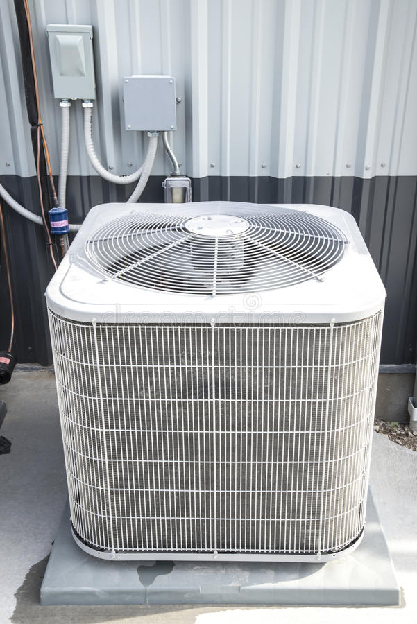 Industerial airconditioners,installed stock images