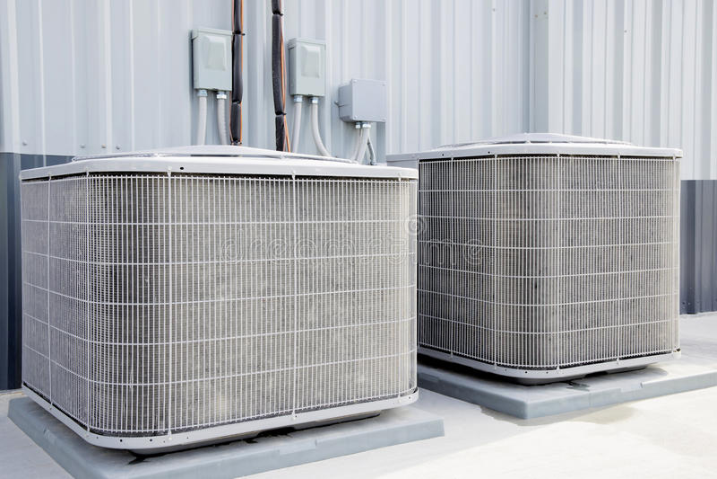 Industerial airconditioningstoestellen, royalty-vrije stock foto's