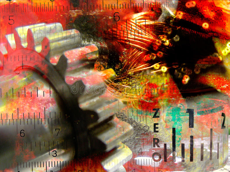 Download Industiral Collage Abstract Stock Illustration - Image: 16097911