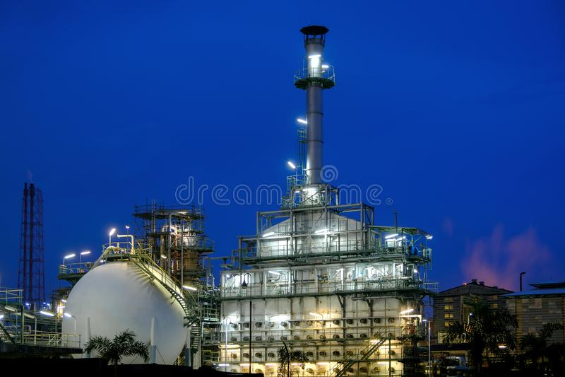 Industriële aardolie stock foto's