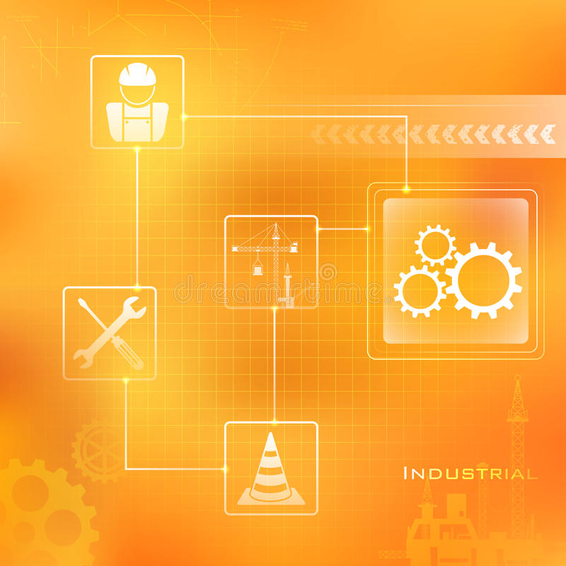 Industriële Achtergrond stock illustratie