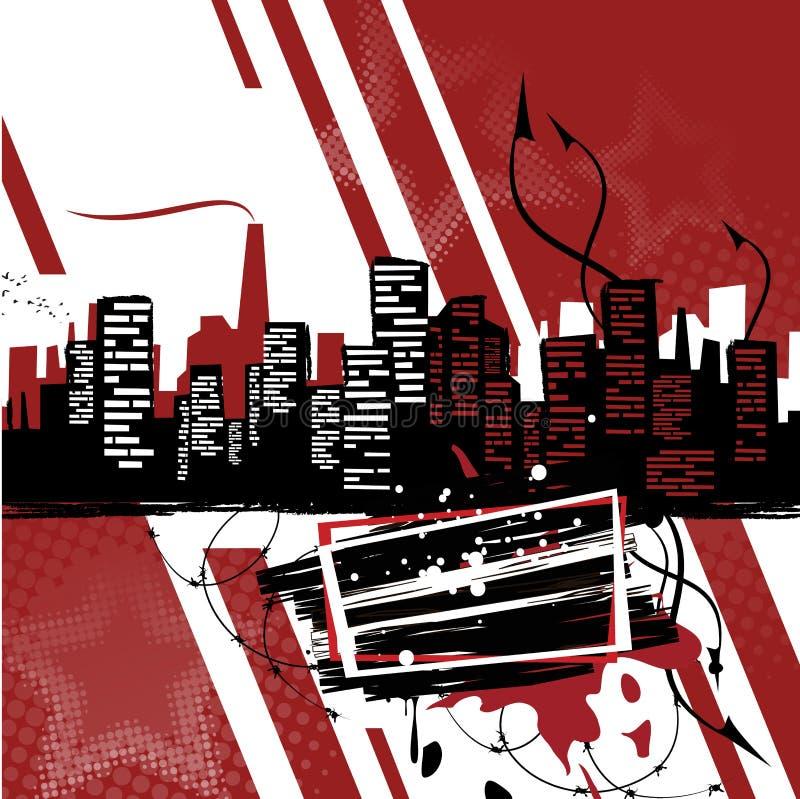 Industriële affiche De banner van de landhuisstijl vector illustratie