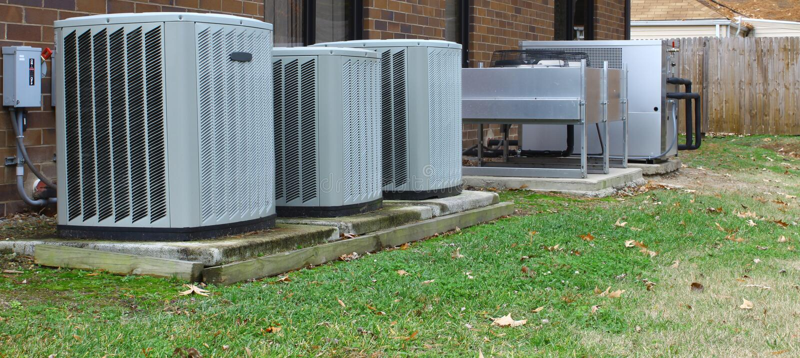 industriële airconditioners royalty-vrije stock foto