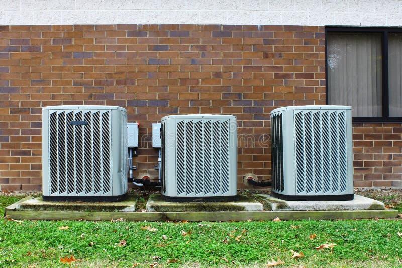 industriële airconditioners stock foto's