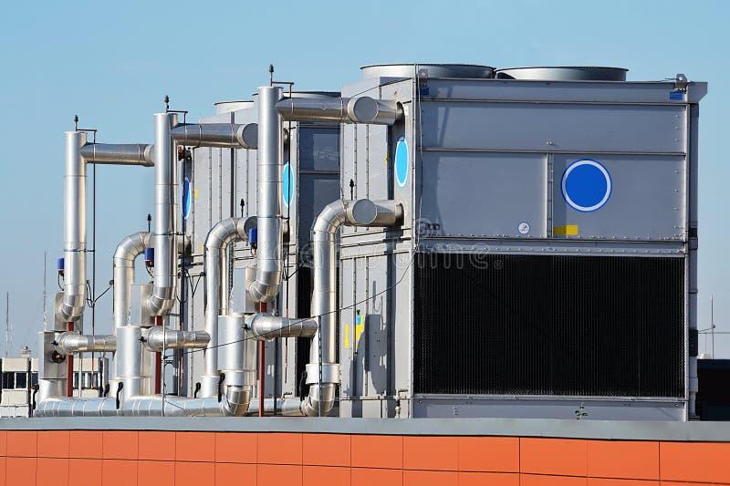Industriële airconditioning stock foto's