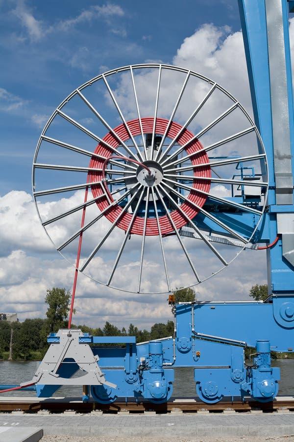 Industriële apparatuur bij de haven, spoorweg royalty-vrije stock afbeelding