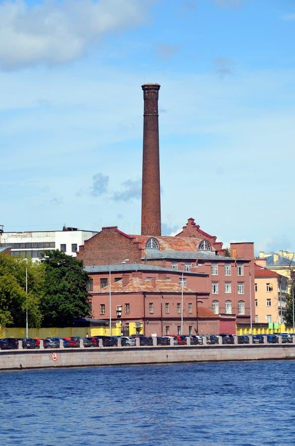 Industriële architectuur van St. Petersburg stock fotografie