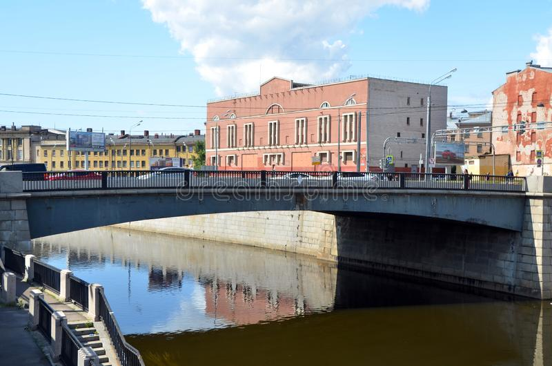 Industriële architectuur van St. Petersburg, Rusland stock fotografie