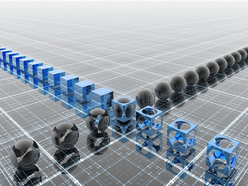 Industriële blauwe lijn royalty-vrije illustratie