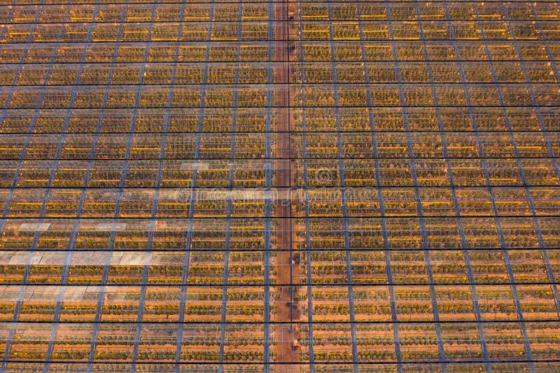 Industriële broeikasgassen met verwarming stock foto's