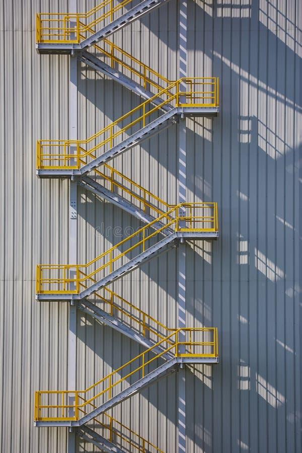 Industriële Buitentrap stock foto