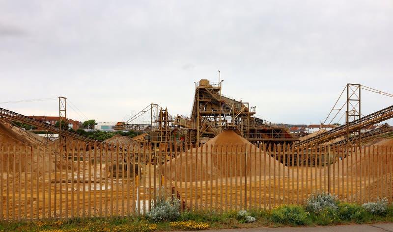 Industriële complex van de Shorehamhaven royalty-vrije stock afbeeldingen