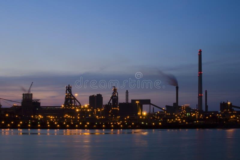 Industriële Dawn royalty-vrije stock foto's