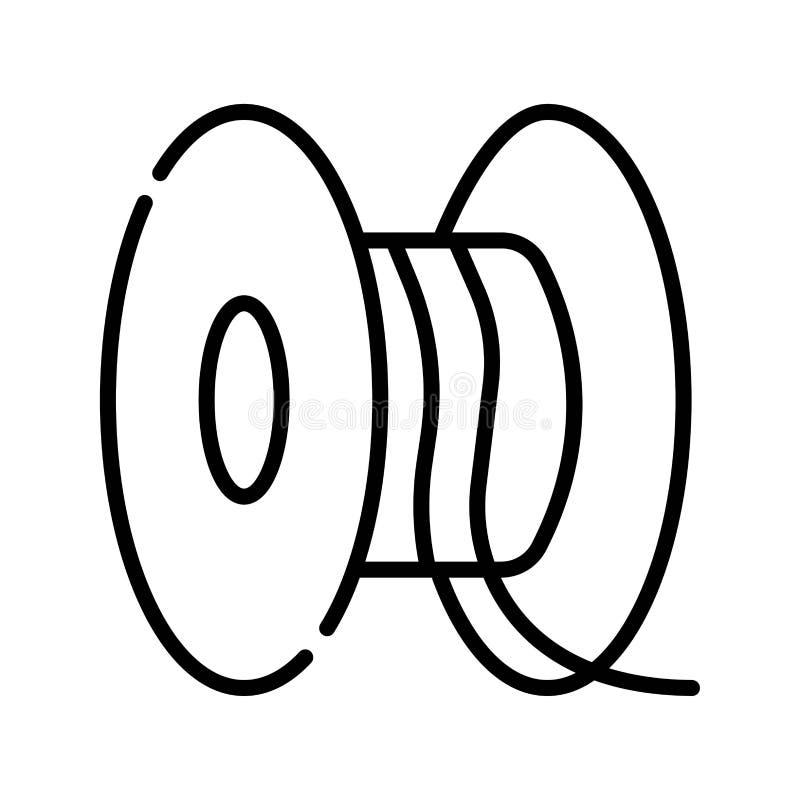 Industriële de slangspoel van de kabeltrommel vector illustratie
