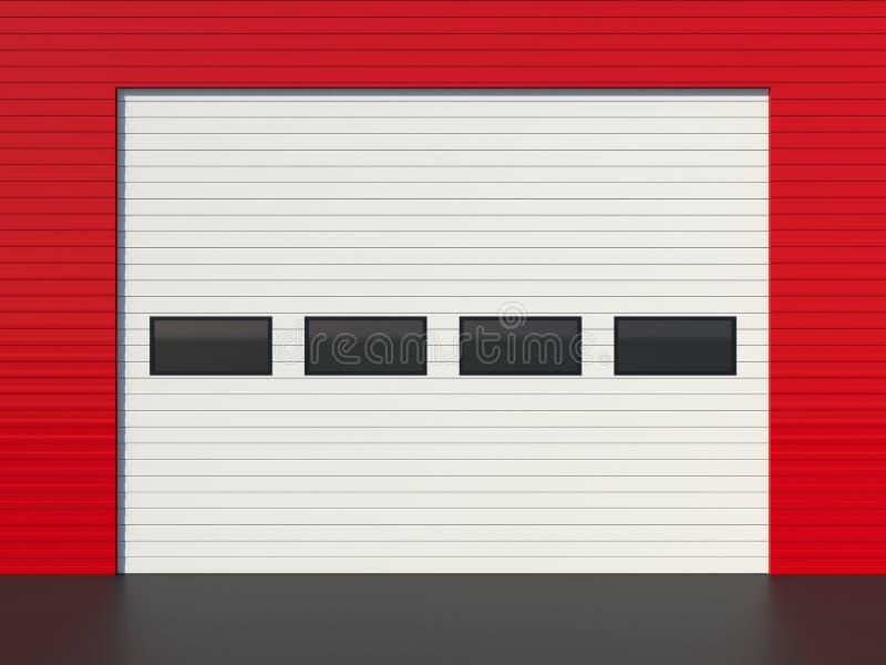 Industriële deur royalty-vrije illustratie