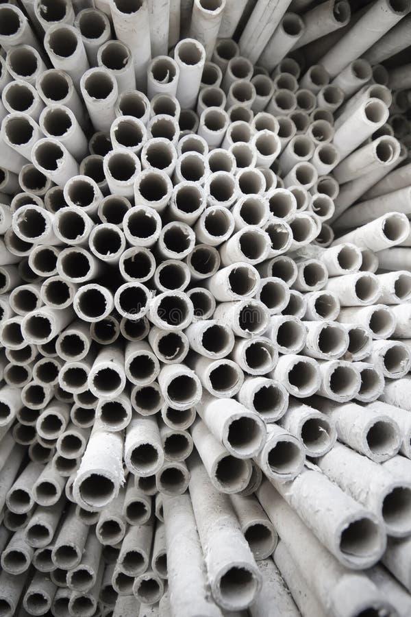 Industriële document buizen. royalty-vrije stock foto's
