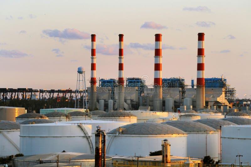 Industriële Elektrische centrale royalty-vrije stock afbeeldingen