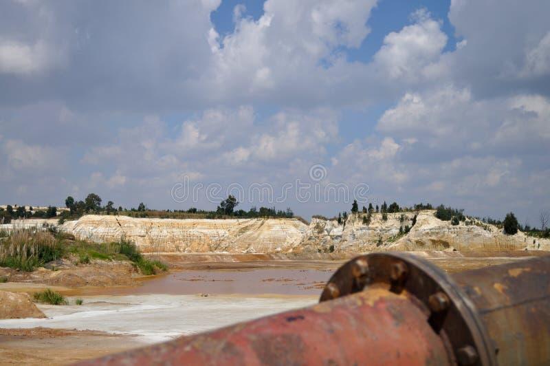 Industriële erosie stock foto
