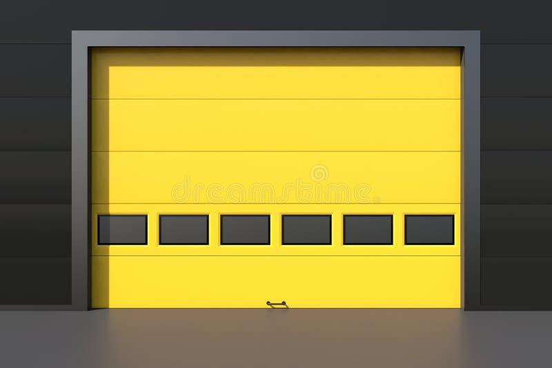 Industriële gele deur vector illustratie