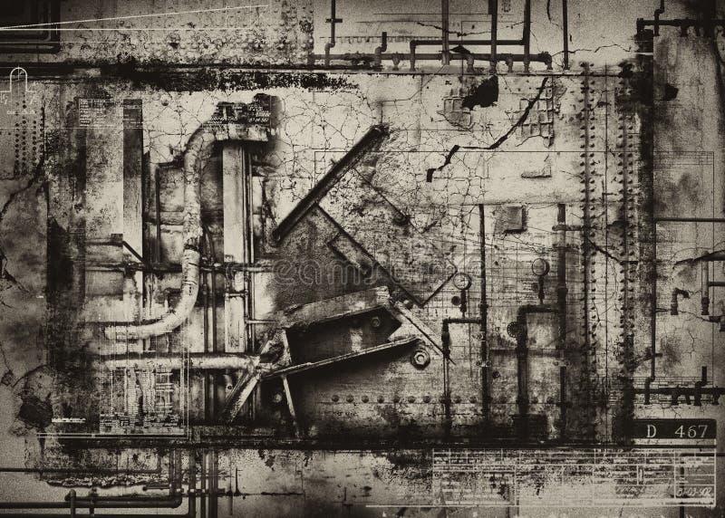 Industriële grungeachtergrond royalty-vrije illustratie
