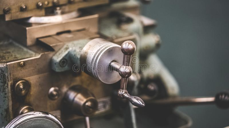 Industriële Handomwentelings Mechanische Motor stock foto's