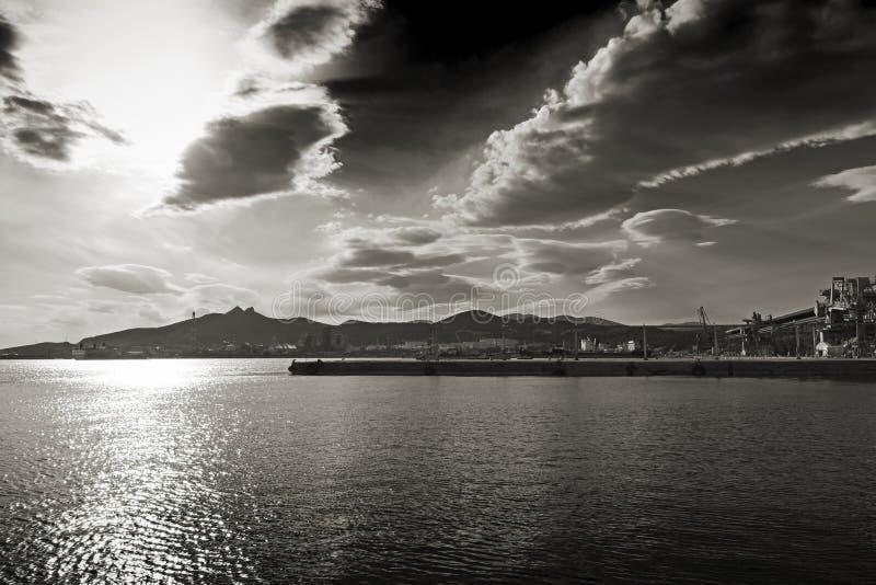 Industriële haven stock foto's