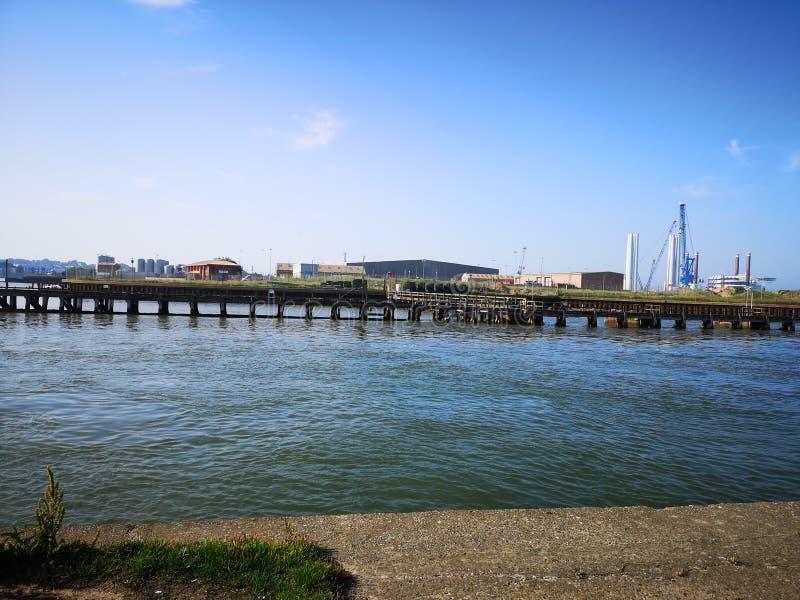 Industriële Havenfabriek Gorleston stock afbeeldingen