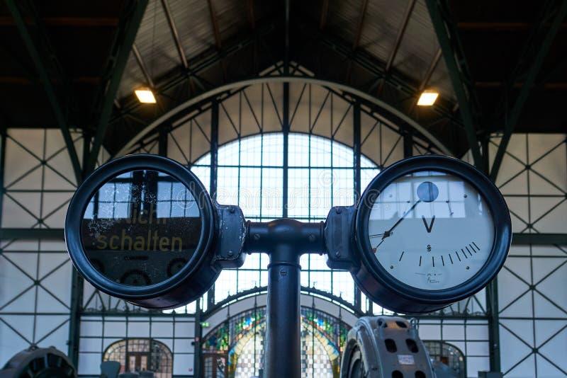 Industriële het Museumkolenmijn Zollern, Dortmund Duitsland van LWL stock foto
