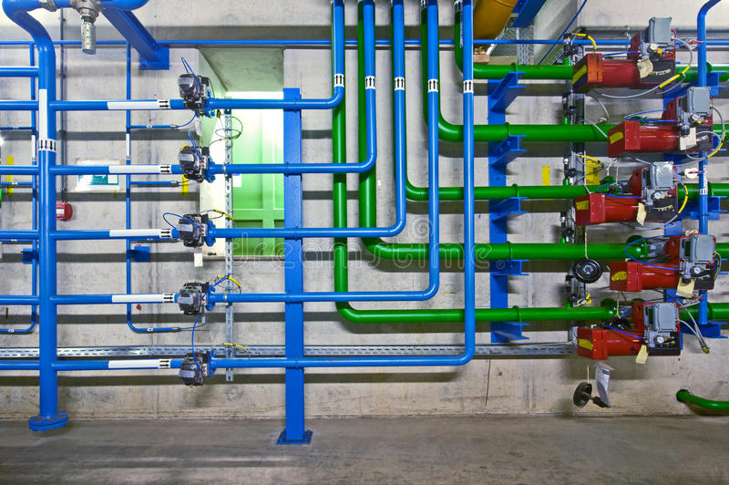 Industriële hydraulica royalty-vrije stock fotografie