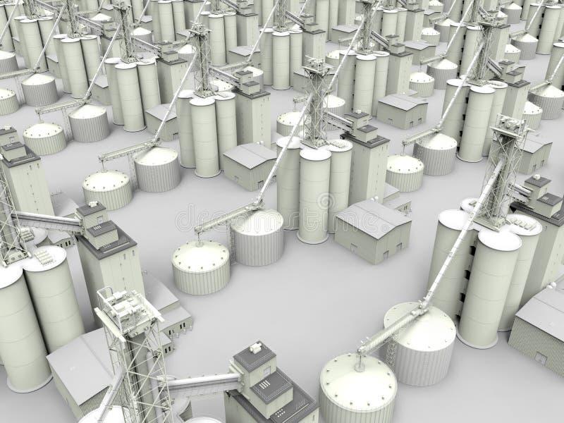 Industriële infrastructuurillustratie vector illustratie