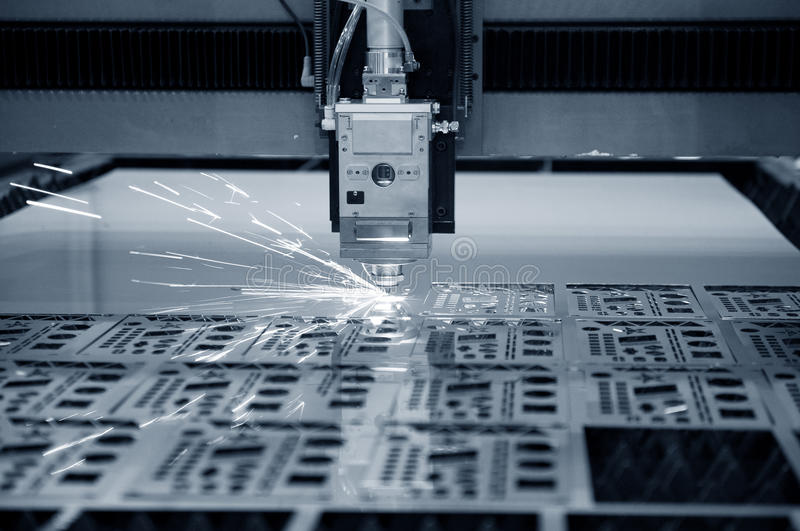 Industriële laser royalty-vrije stock afbeelding