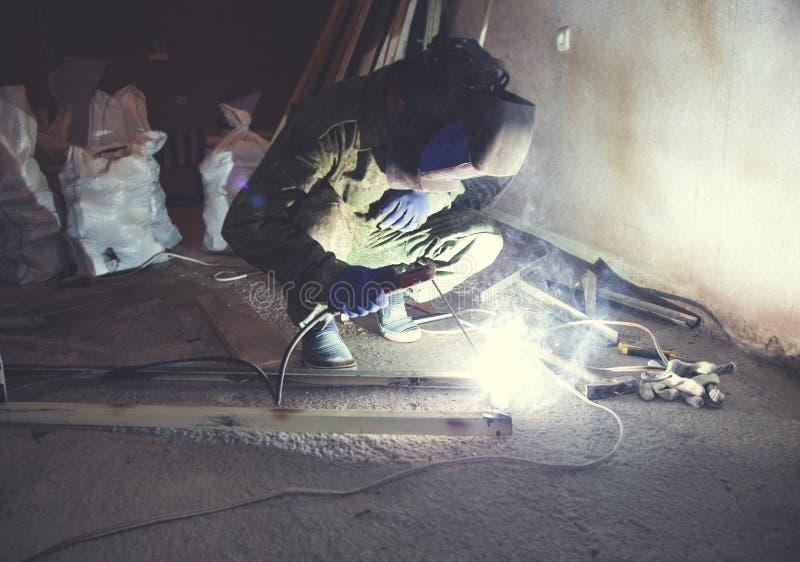 Industriële lassersarbeider royalty-vrije stock foto's