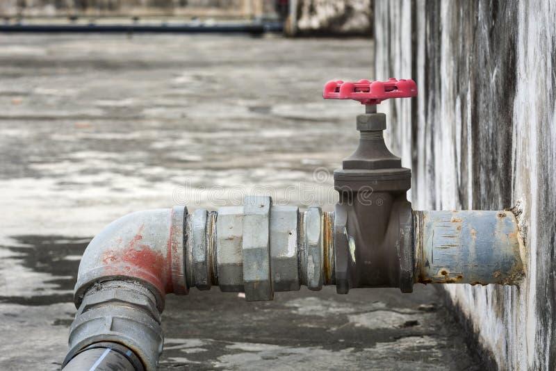 Industriële leidingenklep royalty-vrije stock fotografie