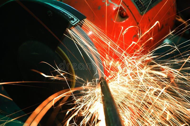 Industriële Molen en Vonken royalty-vrije stock afbeelding