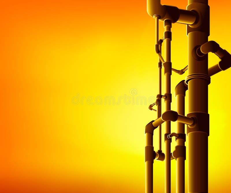 Industriële pijpen stock illustratie