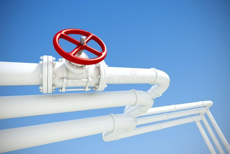 Industriële pijpleiding met gas of olie royalty-vrije illustratie