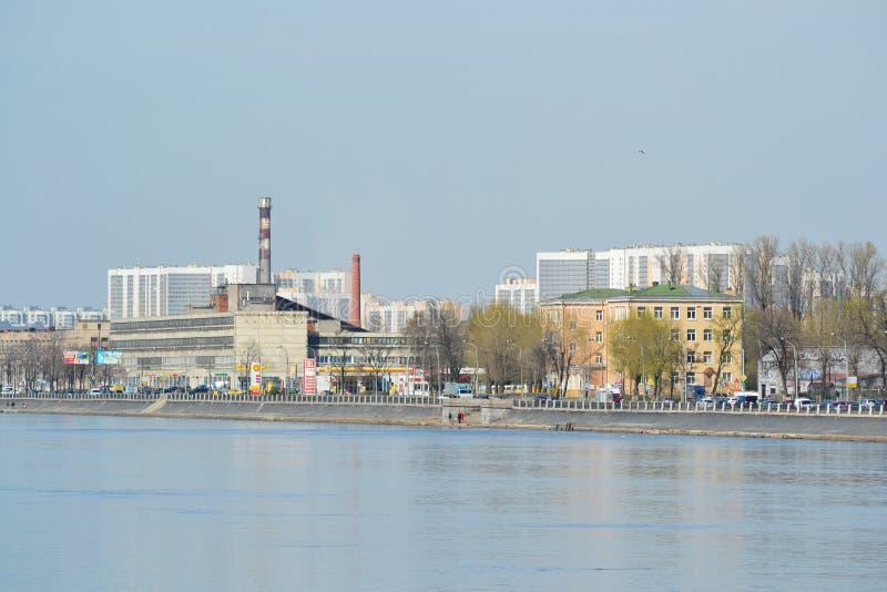 Industriële rand van St. Petersburg stock foto