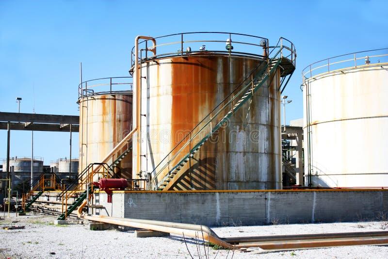 Industriële reservoirs stock foto's