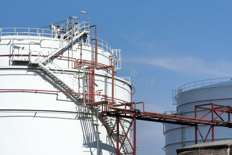 Industriële reservoirs royalty-vrije stock foto's