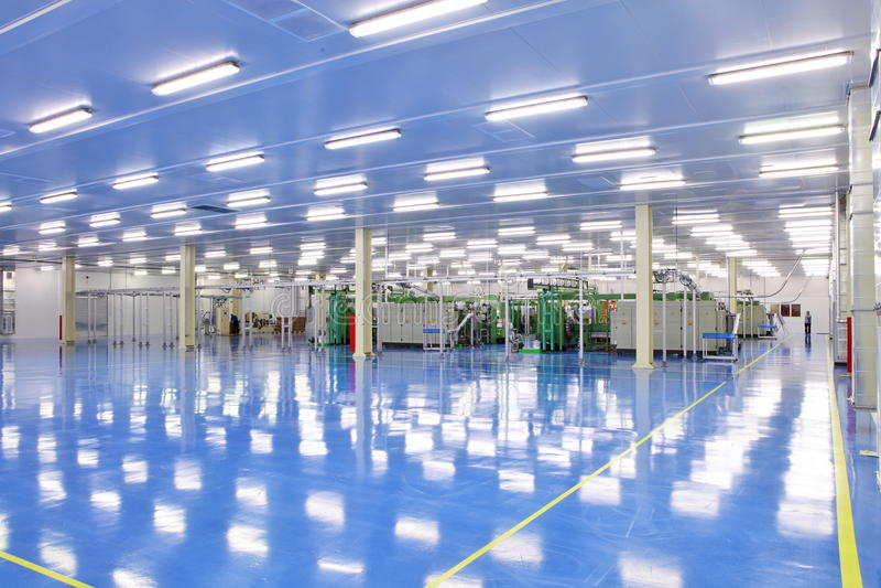 Industriële ruimte stock afbeeldingen