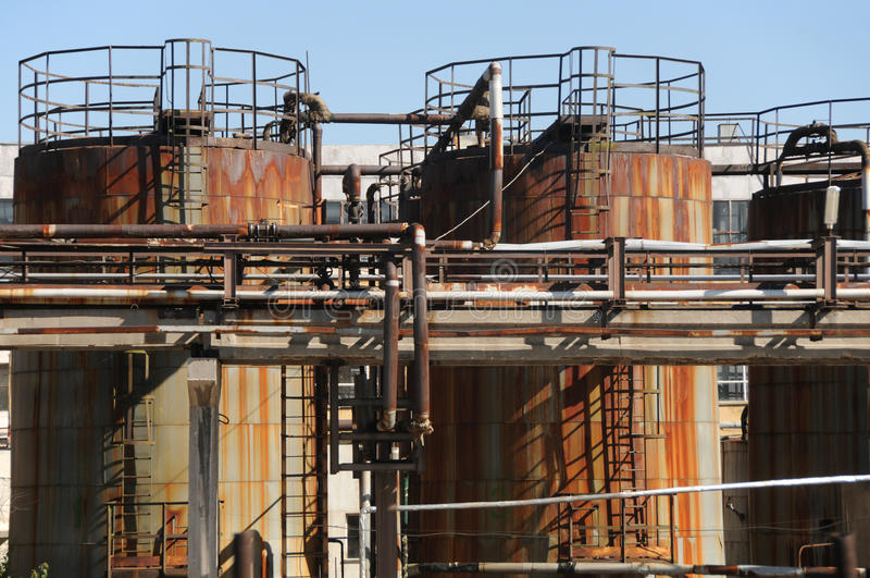 Industriële silo stock afbeeldingen