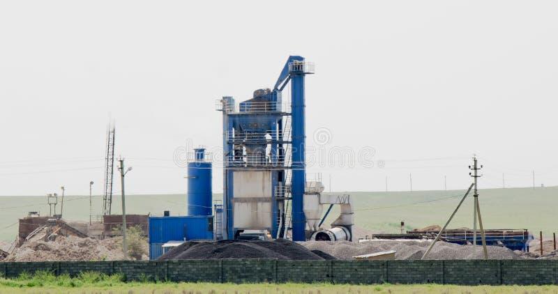 Industriële silo, tanks royalty-vrije stock afbeelding