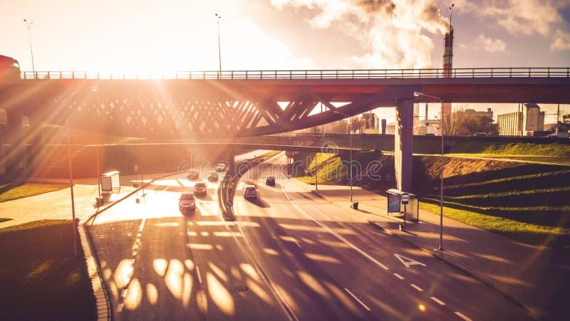 Industriële stadsmening royalty-vrije stock foto's