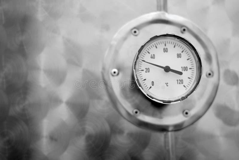 Industriële thermometer royalty-vrije stock fotografie